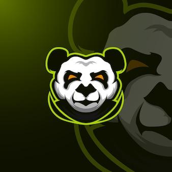 Panda mascotロゴe-sport