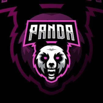 Логотип талисмана панды игровой логотип киберспорта