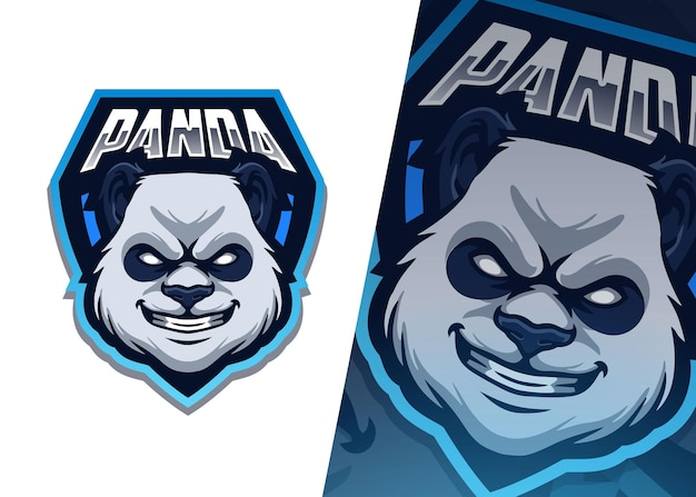 Panda mascot logo illustration