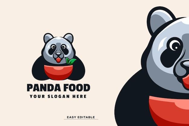 Шаблон логотипа талисмана панды
