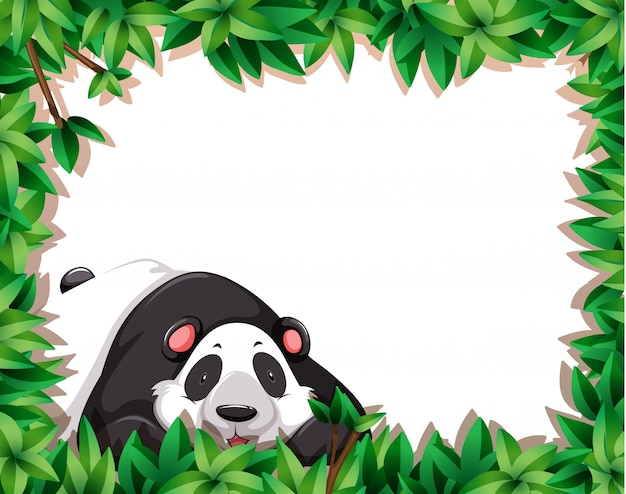 Panda in nature frame