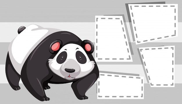 Panda on note copyspace frames