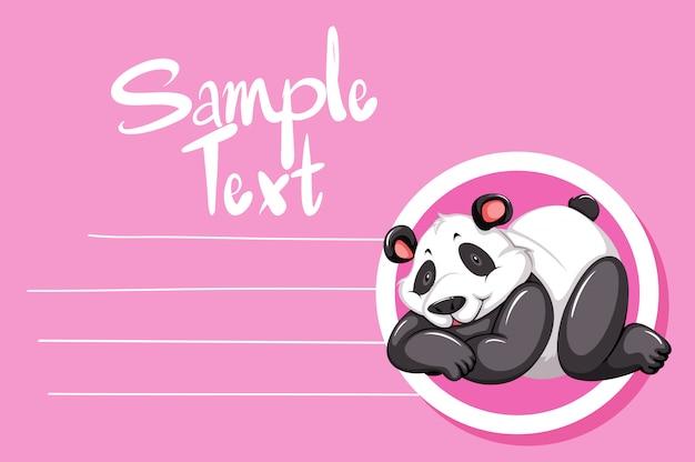 Панда на розовой ноте