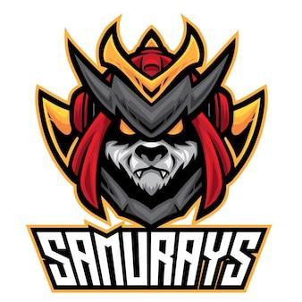 Логотип panda samurai esport