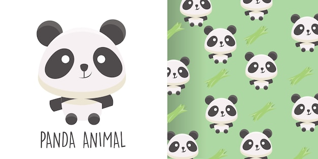 Panda seamless pattern