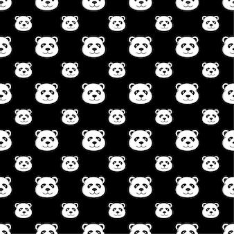 Panda seamless pattern