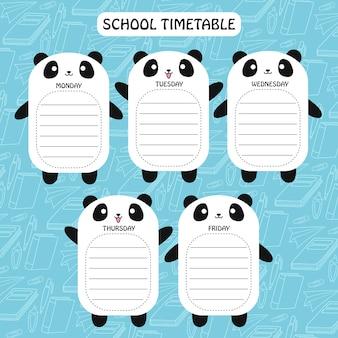 Panda timetable