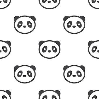 パンダ、ベクトルのシームレスなパターン、編集可能webページの背景、パターンの塗りつぶしに使用できます