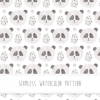 Panda watercolor pattern