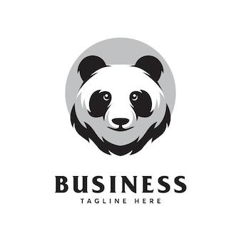 Шаблон дизайна логотипа panda