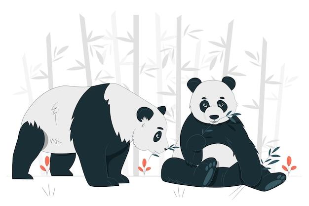 Pandas concept illustration