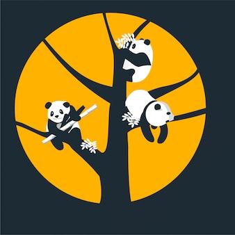 Pandas on a tree
