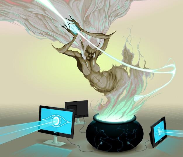 Pandoras box conceptual design Free Vector
