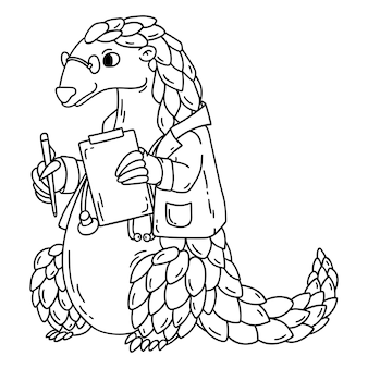 Pangolin the doctor. coloring book.