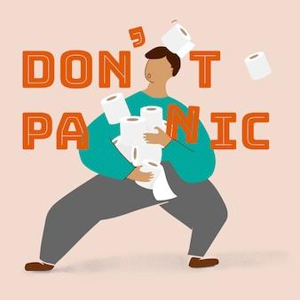 Don't panic covid-9 awareness