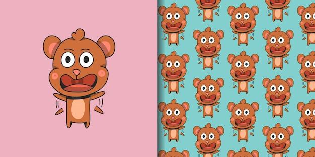 パターンとパニックの小さなクマ