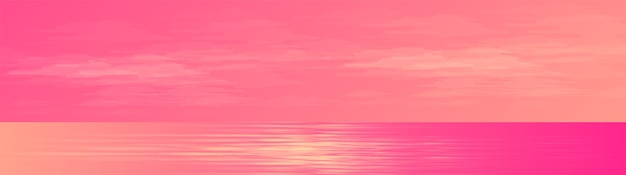 Панорама красивый морской пейзаж фон, дизайн концепции солнечного света.