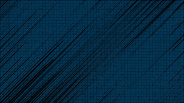 青い背景、コミックとモーションのコンセプトデザイン、ベクトルのパノラマ黒コミックスピードライン。