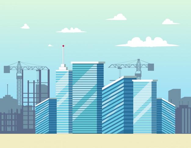 Панорама городской город