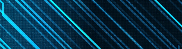 파노라마 전자 기술 배경, 하이테크 디지털 및 보안