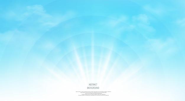 雲の背景と晴れた青空のパノラマ。