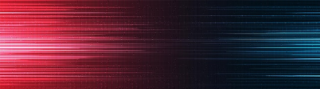 Panorama red and blue speed light technology background,hi-tech digital and sound wave concept design,free space for text in put,vector illustration.
