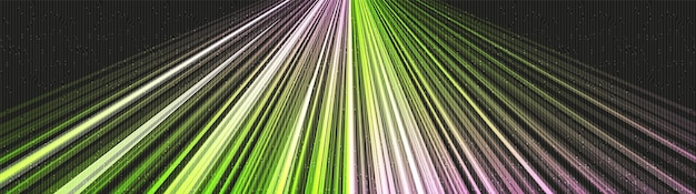 Panorama speed green light technology background,hi-tech digital and sound wave concept design,free space for text in put,vector illustration.