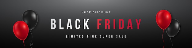 Panoramic banner for black friday sale.