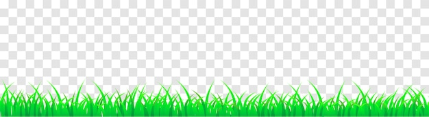 Panoramic seamless green grass. vector cartoon illustration for footer and design isolated.