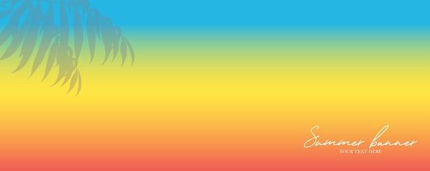 파노라마 열대 야자수 배너 디자인