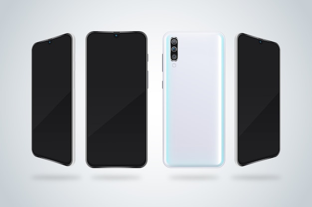 Panoramic view of smartphones