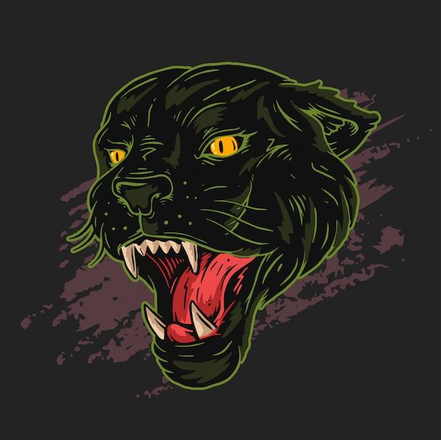 표범 검은 색과 녹색