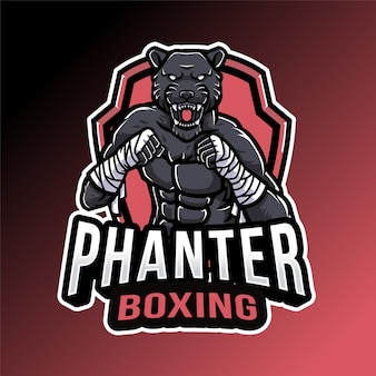Panther boxing logo template