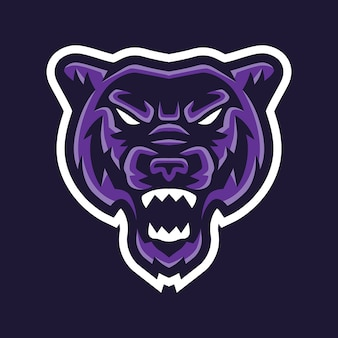 Panther esport logo template