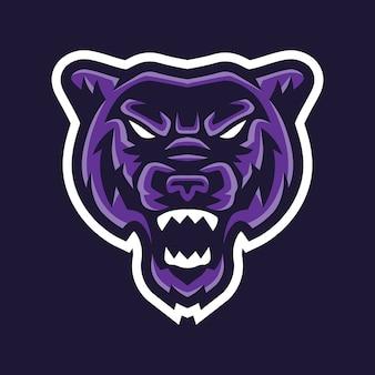 Шаблон логотипа panther esport