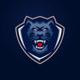 Шаблоны логотипов panther esports