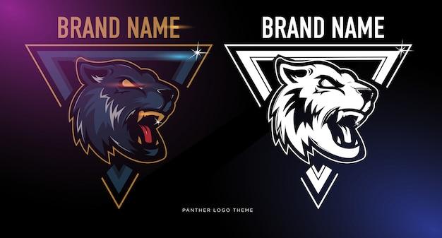 Panther head logo set