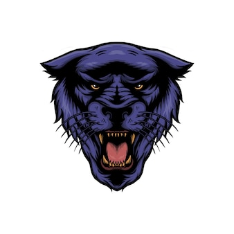 Panther head vector illustration