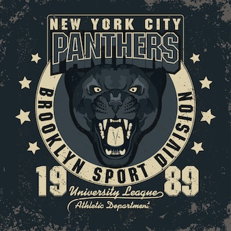 Panther illustration emblem