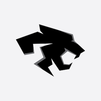 Panther logo vector on a white background