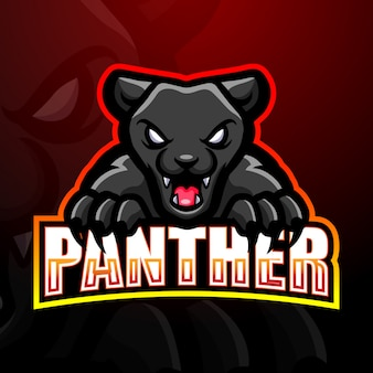Panther mascot esport logo illustration