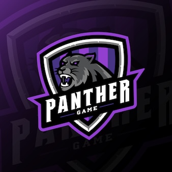 Panther mascot gaming logo esport illustration