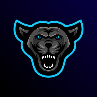 Panther mascot logo esport gaming