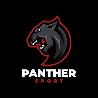 Пантера спорт современный логотип - большая кошка дикая иллюстрация