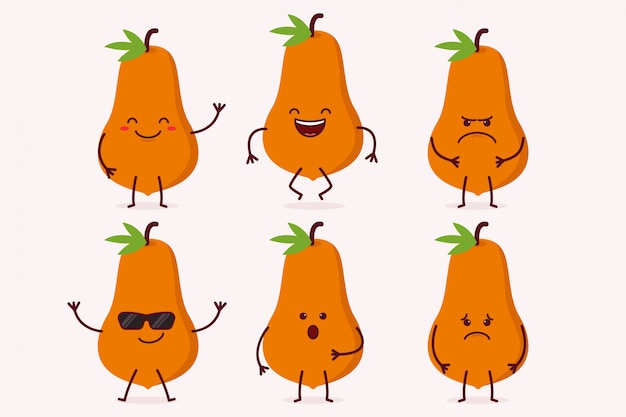 Papaya fruit character set
