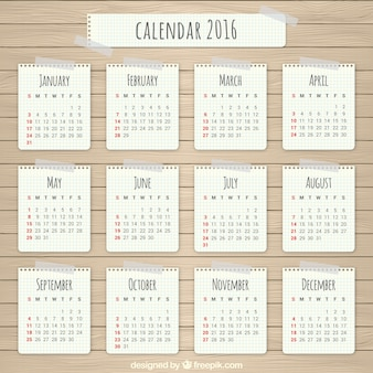 Paper 2016 calendar