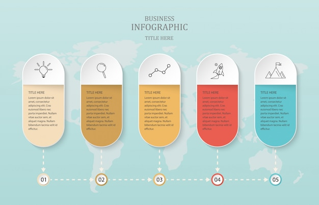 ビジネスコンセプトと世界の背景のための紙4のオプション。