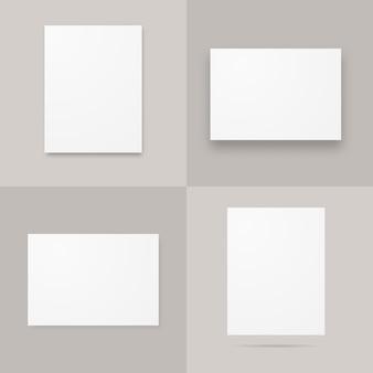 Бумажные плакаты формата а4