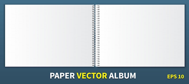 Paper album with a metal spiral in the center