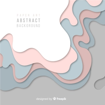 Paper art abstract background